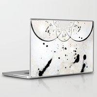 radio Laptop & iPad Skins featuring Radio Frequency by Angela Pesic