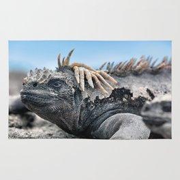 Funny rasta hair marine iguana Rug