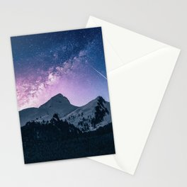 Mountains & Milky Way Stationery Cards