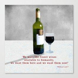 Glass of Wine Canvas Print
