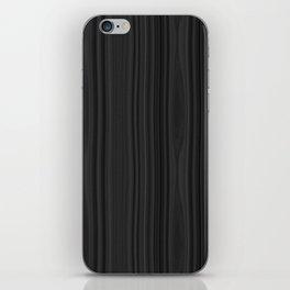 Black Wood Texture iPhone Skin