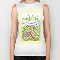 paper towns Biker Tanks featuring Paper Towns by green.lime