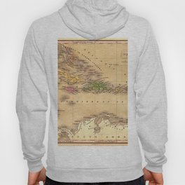 Map Of The Caribbean 1828 Hoody