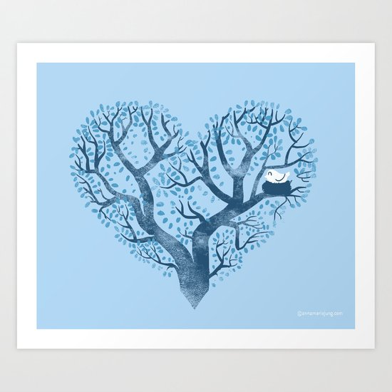 Home is where the nest is Art Print