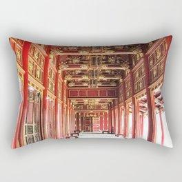 Red Asian Palace Rectangular Pillow