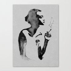 Smoker (Ink Painting) Canvas Print
