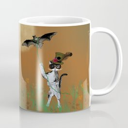 Cat Walking His Bat Coffee Mug