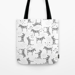 Abstract Zebras Tote Bag