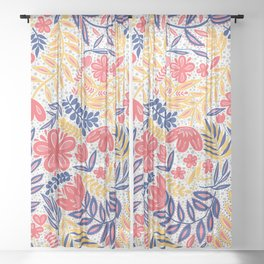 Tropicalia- Primary Colors Sheer Curtain
