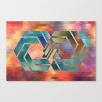 infinite Canvas Prints featuring Infinite by Blank & Vøid