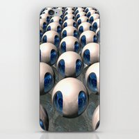 army iPhone & iPod Skins featuring Alien Army by Phil Perkins