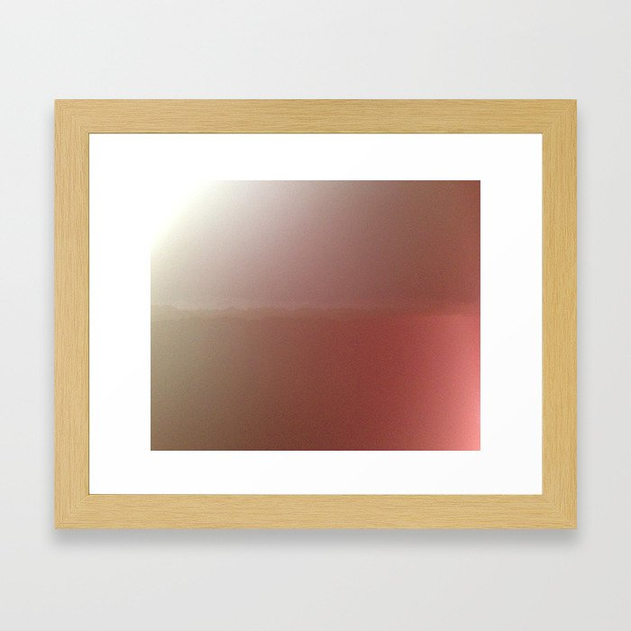 Horizon Blur Framed Art Print