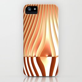 Bending the Bars of Rules - Pure Fractal Abstract iPhone Case