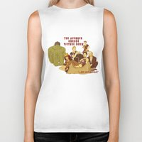 rocky horror picture show Biker Tanks featuring The Avenger Horror Picture Show by Leigh Lahav