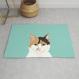 Calico Cat - Cute cat black, white, tan, orange tabby cat, cute kitten Rug