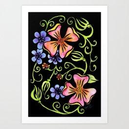 Electric Flora Art Print