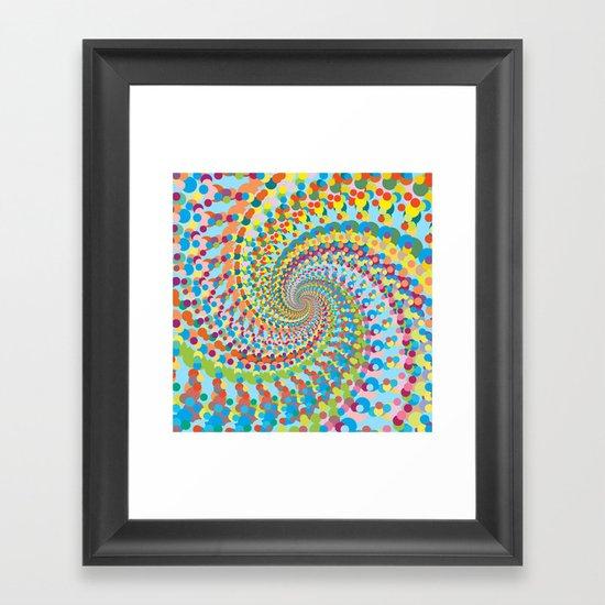 Colour Mix Spiral Framed Art Print