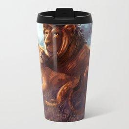 Lion and Lioness Travel Mug