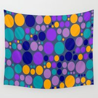 dots Wall Tapestries featuring Dots by Aloke Design
