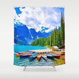Lake in switzerland Shower Curtain