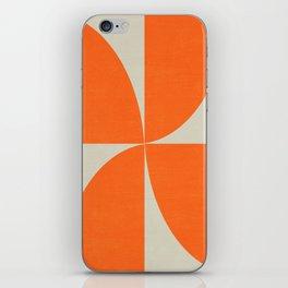 mod petals - orange iPhone Skin