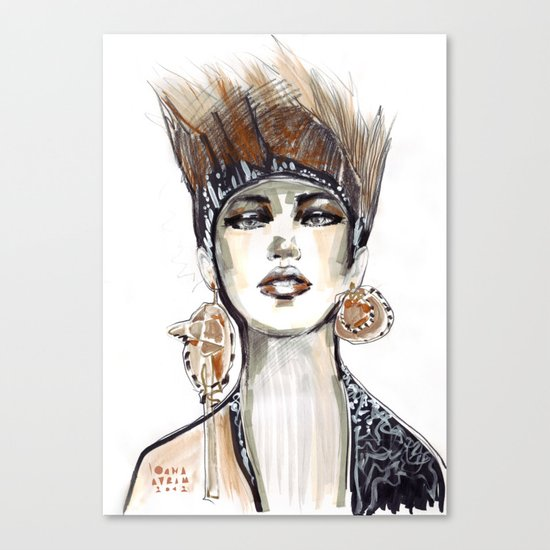 Punk fashion illustration  Canvas Print