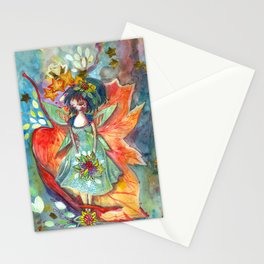The fairy, the nature and the sky Stationery Cards