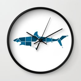 SHARK SILHOUETTE WITH PATTERN Wall Clock