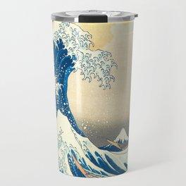 Japanese Woodblock Print The Great Wave of Kanagawa by Katsushika Hokusai Travel Mug