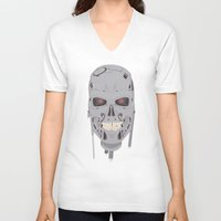 terminator V-neck T-shirts featuring Terminator  by avoid peril