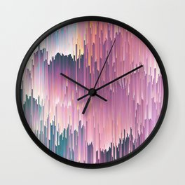 Rainbow Glitches Wall Clock