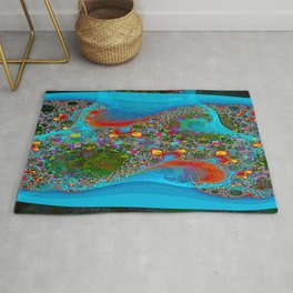 Abstract Topography Rug