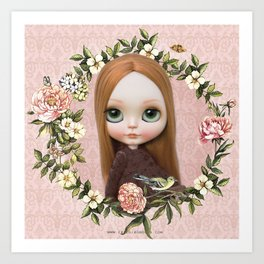 ERREGIRO BLYTHE DOLL ROBINNE FLOWER CROWN Art Print