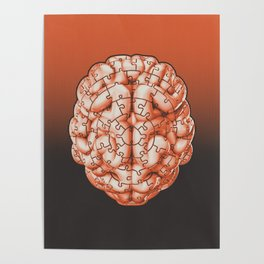 Puzzle brain GINGER / Your brain on puzzles Poster