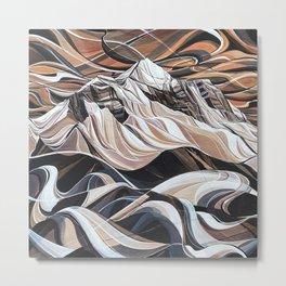 Eye of the Storm, Mount Begbie Metal Print