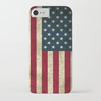 american flag iPhone & iPod Cases featuring American Flag by Abbie :)