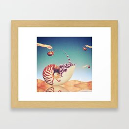 Surreal Shell Garden Framed Art Print