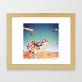 Surreal Shell Garden Framed Art Print