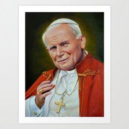 Pope John Paul II Blessed Saints Portrait Art Print