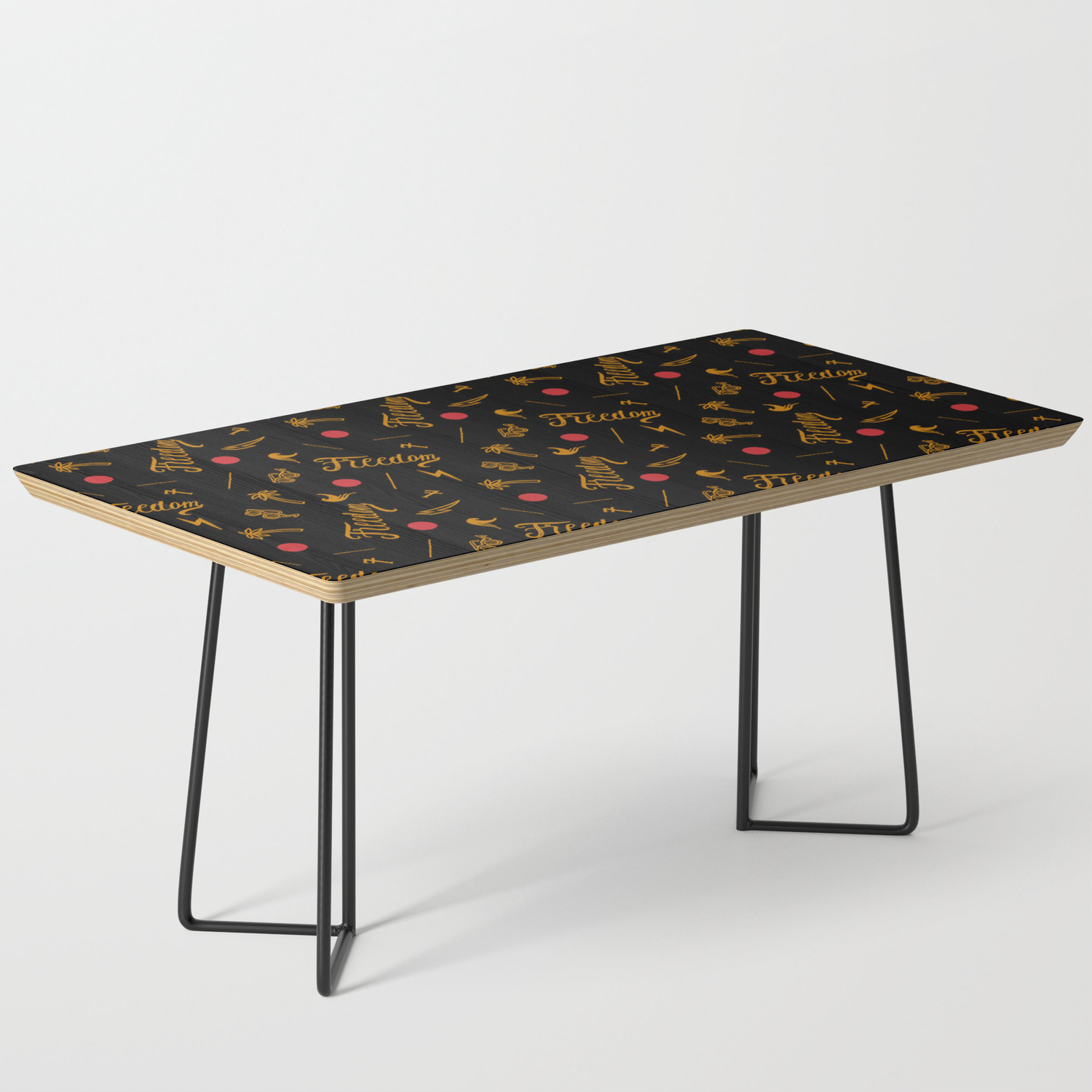 Freedom And Flickering Sunshine Thought Coffee Table By