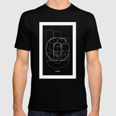 Die Neue Haas Grotesk (C-03) Mens Fitted Tee Black SMALL