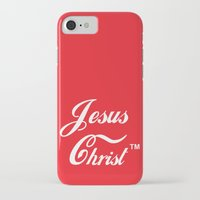 christ iPhone & iPod Cases featuring JESUS CHRIST by The Fugu Project