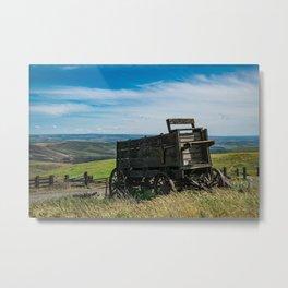 Lonely Wagon Metal Print