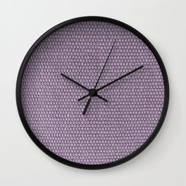 Woven Texture Orchid Wall Clock