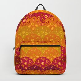 floral fisscale pattern Backpack