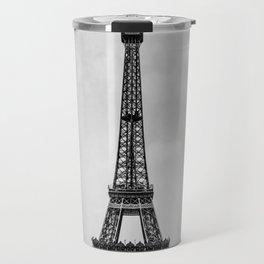 Eiffel tower in B&W with painterly effect Travel Mug