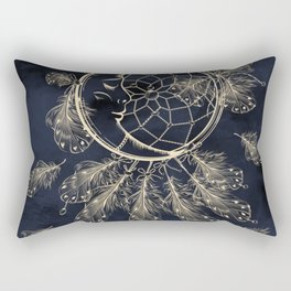 GOLDEN MOON IN DARK NIGHT Rectangular Pillow
