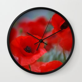 poppy addiction Wall Clock
