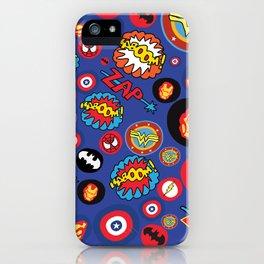 Movie Super Hero logos iPhone Case