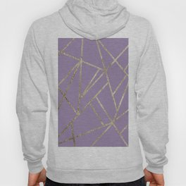 Classic Lavender Gold Geo #1 #geometric #decor #art #society6 Hoody